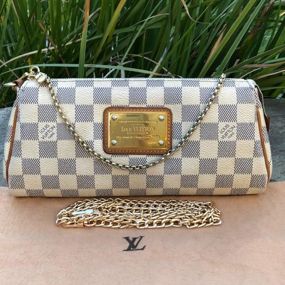 07a230906fdf Louis Vuitton Handbags - 💯LV Damier Azur Eva W DUST BAG   CROSS-